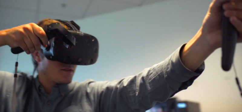 A man using Virtual Reality Headset